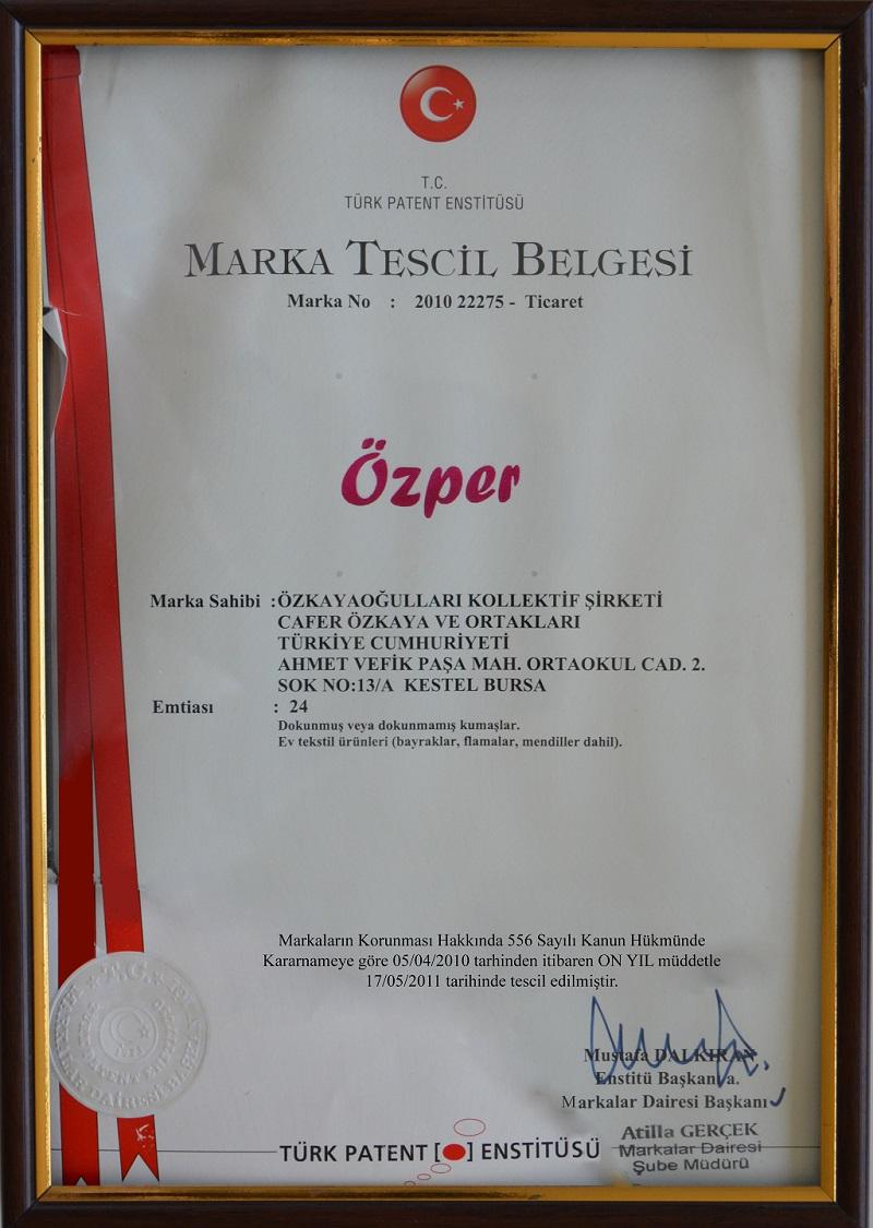 Marka Tescil Belgesi -1-